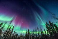 "The alaska northern lights  Canvas 20""x30"" wall art"
