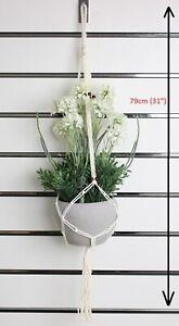 Macrame Plant Hanger Hanging Flower Pot Basket Holder Rope Wall Garden Art Decor