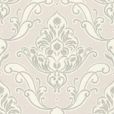 Soft Subtle Lilac Blush Pink Damask Wallpaper Luxury Vinyl Retro Traditional