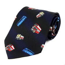 Bus Driver Mens Necktie Double Decker Transit Charter Gift Blue Neck Tie New