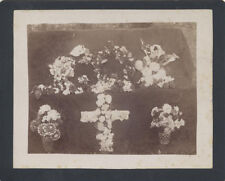 VINTAGE PHOTOGRAPH OF FUNERAL FLOWER ARRANGEMENTS