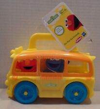 Playskool Sesame Street On the Go Bus Case Elmo & Cookie Monster A9937 18 mos.+