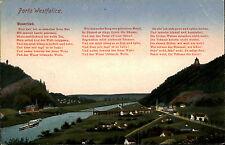 Porta Westfalica 1921 Fluß Weser Weserlied Lied Gedicht Kaiser Wilhelm Denkmal