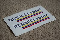 RENAULT SPORT Motorsport Racing Car F1 GP Rally Alpine Clio Decal Sticker 50mm