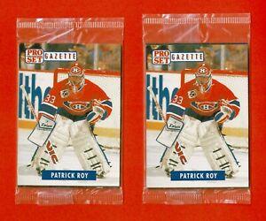 1991 Pro Set Gazette Sealed 5-Card Promo Pack Lot (2) Patrick Roy Fred Couples+