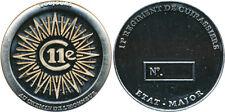 11° Régiment de Cuirassiers, ETAT MAJOR, coins 35 millimètres, Sans (LR) (3707)