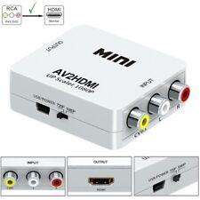 Mini RCA AV to HDMI Converter Adapter Composite AV2HDMI Full HD1080P HDTV DVD*