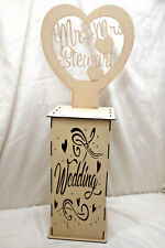 A848 LIGHTBOX PODIUM STAND CENTREPIECE WITH PERSONALISED HEART SIGN LARGE V10