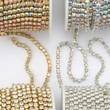 Glitter Crystal Rhinestone Chain Sew-On Glue-On Clothes Sew Garment Accessories