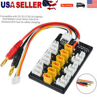 Parallel Balance charger Charging Board For XT30 JST Plug 2S 3S RC LiPo Battery