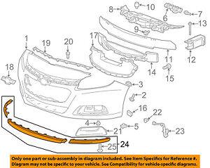 Chevrolet GM OEM 13-15 Malibu Front Bumper Grille-Lower Deflector 22842404