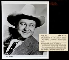 1950's Vintage FILM COWBOY TEX RITTER Press Bio & Publicity Photo COUNTRY MUSIC