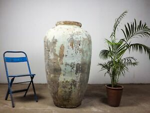 Very Large Vintage Antique Clay Olive Pot Urn Planter MILL-944/16