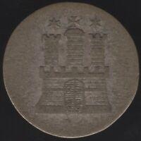 1846 German States Hamburg Silver 1 Schilling Coin|European Coins|Pennies2Pounds