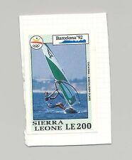 Sierra Leone #1516 Olympics, Sailing 1v Imperf Proof on Card
