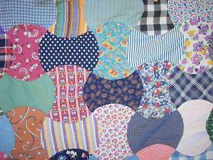 Vintage Homemade Hatchet Pattern Patchwork Quilt Top