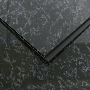 12 Black Marble Wall Cladding Ceiling Kitchen PVC Plastic Panel 8mm