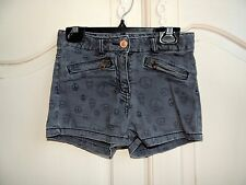 Scotch R'Belle Girls Gray Peace logo denim shorts size 8