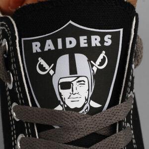 OAKLAND RAIDERS LAS VEGAS RAIDERS Men's Women's Canvas Shoes Sneakers Football