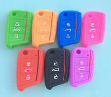 SILICONE VW VOLKSWAGEN  FLIP CAR KEY CASE COVER for  MK7 GOLF