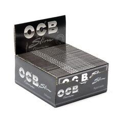 1 5 10 25  OCB PREMIUM BLACK KING SIZE SLIM SMOKING CIGARETTE ROLLING PAPERS