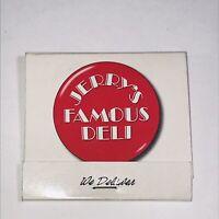 Vintage Jerry's Famous Deli CA Matchbook Unstruck Full 15 Rascal House Miami