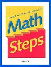 NEW Math Steps: Student Edition Grade 7 2000 by HOUGHTON MIFFLIN