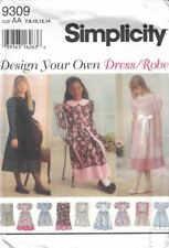 Simplicity Girls w/ Plus Design Your Own Dress #8714 Sz 7-14 and 8.5-16.5