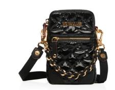 MZ Wallace Micro Crosby Lacquer Crossbody Bag Black