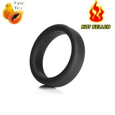 Thick Black Stretchy Cock Ring Penis Hardener Last Longer Cockring