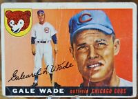 1955 Topps Baseball Card #196 Gale Wade, Chicago Cubs - VG