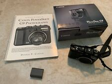 Canon Power Shot G9 12.1MP Compact Digital Camera w/6X lightly used