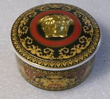 ROSENTHAL VERSACE MEDUSA RED VANITY COVERED BOWL