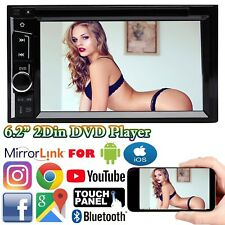 Double 2DIN MP3/WMA Digital Media Player 6.2 Bluetooth Mirrorlink For Androd IOS