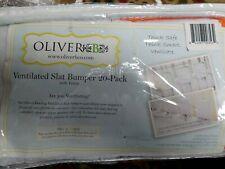 Oliver B Ventilated Slat Bumper 20-Pack w/Velcro, Orange/White