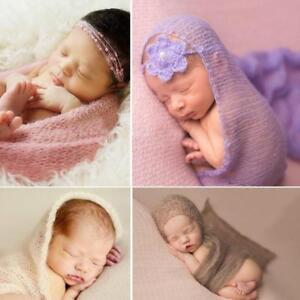 Fotografia Mohair Wrap Baby Photography Props New Newborn Knit Photo Supplies LE