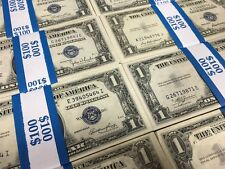 Uncirculated Silver Certificates $ Old One Dollar Bills Paper Money US Currency