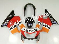 Fit for CBR600F4 1999 2000 REPSOL Orange Red ABS Injection Bodywork Fairing Kit