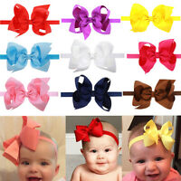 Big Baby Girls Hairband Bow Knot Elastic Band Ribbon Headband Hair Accessories