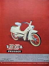 PUBLICITÉ DE PRESSE 1962 PEUGEOT BB 104 TERROT GRIFFON AUTOMOTO - ADVERTISING