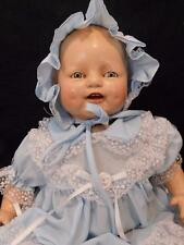 "ANTIQUE HORSEMAN COMPOSITION BABY DIMPLES DOLL 20"" LONG  EIH CO INC"
