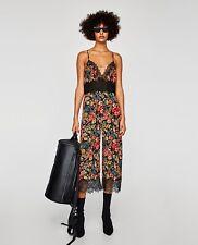 Zara Floral Lace Jumpsuit Size M