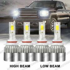 4Pcs 9005 9006 Led Headlight Kit Combo 3600W 540000Lm High Low Beam 6500K White