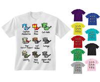 Kids Childrens Kitty Cat Avengers Super Hero Characters T-shirt Age 5-13 Years