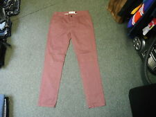 "Moto Topman Skinny Chino Jeans Waist 34"" Leg 32"" Faded Maroon Mens Jeans"