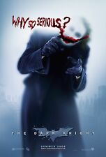 Batman The Dark Knight Movie Poster (24x36) - Why So Serious, Joker-Heath Ledger