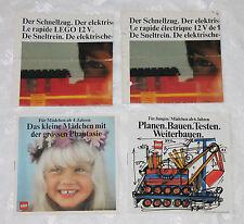 Lego System Beipackzettel / Katalog / Flyer Schnellzug, Mädchen, Planen / Bauen