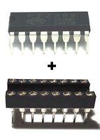 5PCS PTC PT2399 Echo Audio Processor Guitar IC DIP-16 + DIP Sockets - New IC