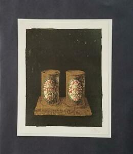 "Jasper Johns ""Ale Cans""  Mounted Color Lithograph  1973 PlateSigned"