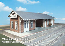 N Scale Building - Passenger Station (Cover Stock PRE-CUT Paper Kit) ST2